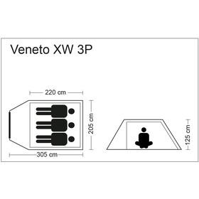 CAMPZ Veneto XW 3P Tiendas de campaña, beige/grey